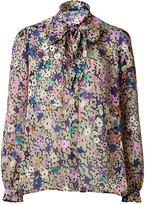 PAUL & JOE Beige Multi Color Printed Silk Blouse