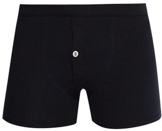 Hamilton And Hare - Stretch-jersey Boxer Briefs - Mens - Navy
