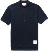 Thom Browne - Ribbed Cotton-seersucker Polo Shirt