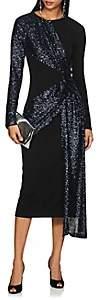 Prabal Gurung Women's Sequined Crepe Twist-Front Dress - Black