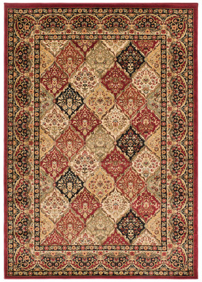 "Mayberry Rug Panel Kerman Rug, Red, 7'10""x9'10"""