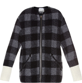 Etoile Isabel Marant Gelicia checked wool-blend coat