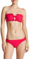 Betsey Johnson Shirred Hipster Full Bikini Bottom