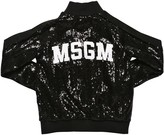 MSGM Sequined Zip-up Sweatshirt