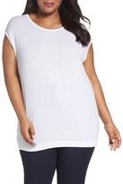 Sejour Textured Cotton Top (Plus Size)