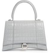 Balenciaga Medium Hourglass Leather Top Handle Satchel