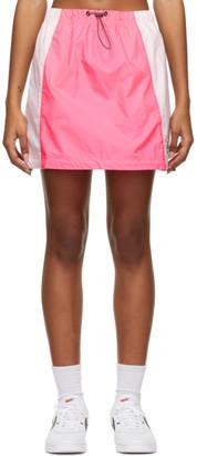 Nike Pink Sportswear Icon Clash Woven Skirt