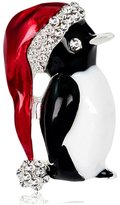 MGStyle Corsage Lapel Pin Brooch Christmas Hat Penguin Rhinestone Copper