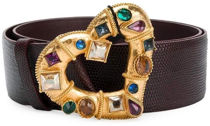 Dolce & Gabbana embellished heart buckle belt