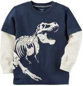 Carter's Baby Boy Glow-in-the-Dark Dinosaur Mock-Layer Tee
