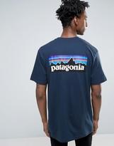 Patagonia P-6 Back Logo T-shirt Pocket Regular Fit In Navy