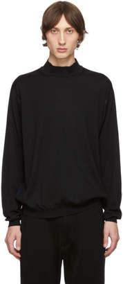 Issey Miyake Black Wool High Gauge Sweater