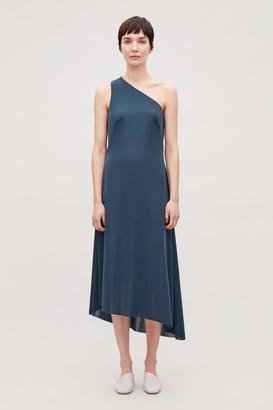 Cos Asymmetric Strap Jersey Dress