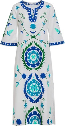 Ada Kamara 2019 Long Suzanni White Blue Dress