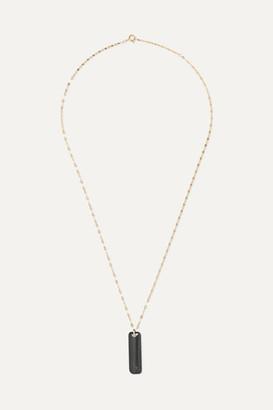 Pascale Monvoisin Marcel 9-karat Gold Tiger Eye Necklace - one size