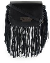 Zac Posen Eartha Iconic Accordion Crossbody Bag, Black Fringe