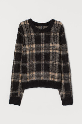 H&M Jacquard-knit Sweater - Black