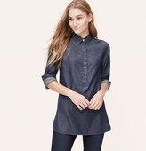 Jeweled Chambray Tunic Softened Shirt