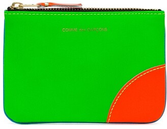 Comme des Garcons Red Green And Blue Fluorescent Wallet