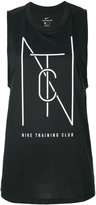 Nike logo print tank top - women - Cotton/Polyester/Viscose - XS