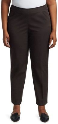 Lafayette 148 New York, Plus Size Stanton Italian Stretch-Cotton-Blend Pants