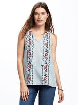 Old Navy Embroidered Tassel-Tie Tencel® Tank for Women