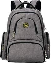 Diaper Bag Waterproofing Oxford Fabrics - Abonnylv Baby 16 Pockets Waterproof Travel Backpack Diaper Bag