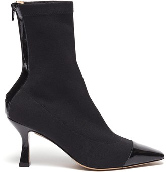 Fabio Rusconi Contrast patent leather toe sock boots
