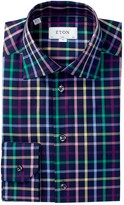 Eton Check Slim Fit Dress Shirt