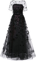 Carolina Herrera Organza pailette gown - women - Silk/Nylon - 2