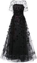 Carolina Herrera Organza pailette gown