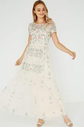 Little Mistress Luxury Nora Ivy Hand-Embellished Maxi Dress
