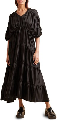 Merlette New York Tiered Empire Waist Midi Dress