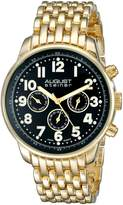 August Steiner Men's AS8147YGB Analog Display Swiss Quartz Gold Watch
