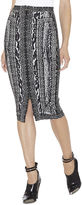 Herve Leger Rocha Ocelot and Antique-Lace Jacquard Skirt