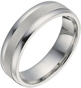 Ernest Jones Silver groove centre ring