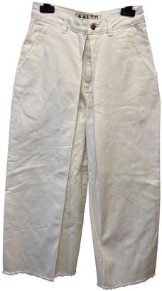 Aalto White Cotton Jeans for Women