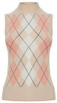 """Oasis ARGYLE TANK TOP [span class=""""variation_color_heading""""]- Pale Pink[/span]"""
