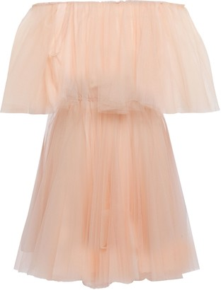 Maje Off-the-shoulder Layered Tulle Mini Dress