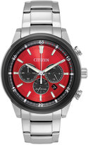 Citizen Eco-Drive Men's Chronograph Titanium Stainless Steel Bracelet Watch 44mm CA4348-51X, A Macy's Exclusive Style