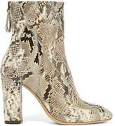 Alexandre Birman Python Ankle Boots - Beige