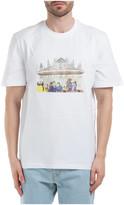 MSGM Milano Cartoon Print Scoop T-shirt