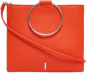 THACKER Le Pouch Ring Handle Leather Shoulder Bag