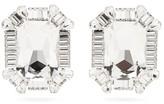Alessandra Rich Crystal Clip Earrings - Womens - Crystal