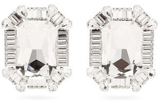 Alessandra Rich Crystal Clip Earrings - Crystal