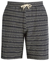 Oliver Spencer Weston striped-print cotton shorts