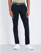 Lanvin Slim-fit tapered cotton trousers
