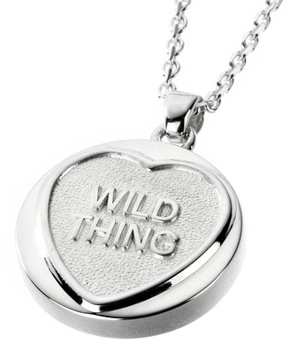 Love Hearts Sterling Silver Classic 'WILD THING' Pendant on Chain of Length 41 cm + 5 cm Extender