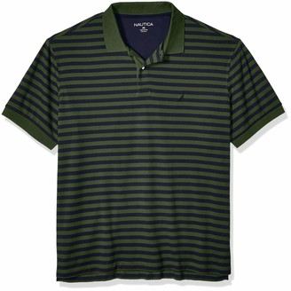 Nautica mens Classic Fit Short Sleeve 100% Cotton Stripe Soft Polo Shirt
