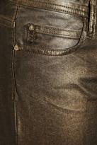 Faith Connexion Metallic mid-rise skinny jeans